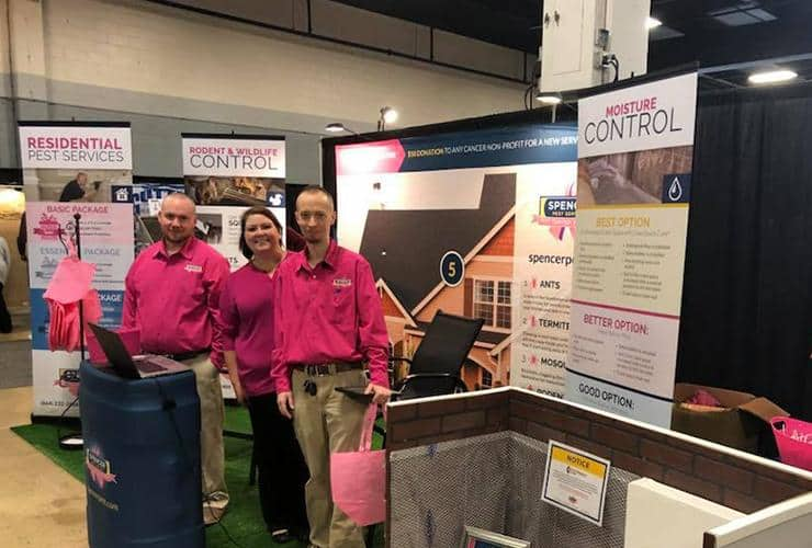 members of the spencer pest team at the renovation show in 2018