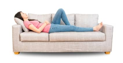 lady on a couch
