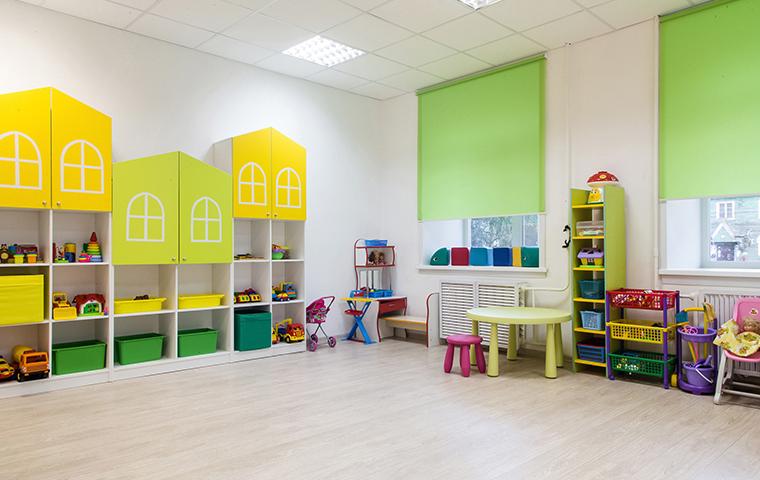 an empty preschool room in harleton