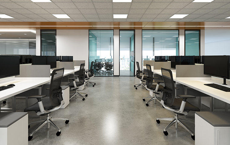 interior view of an office without people in bullard