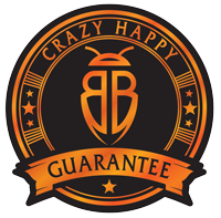 crazy happy guarantee logo