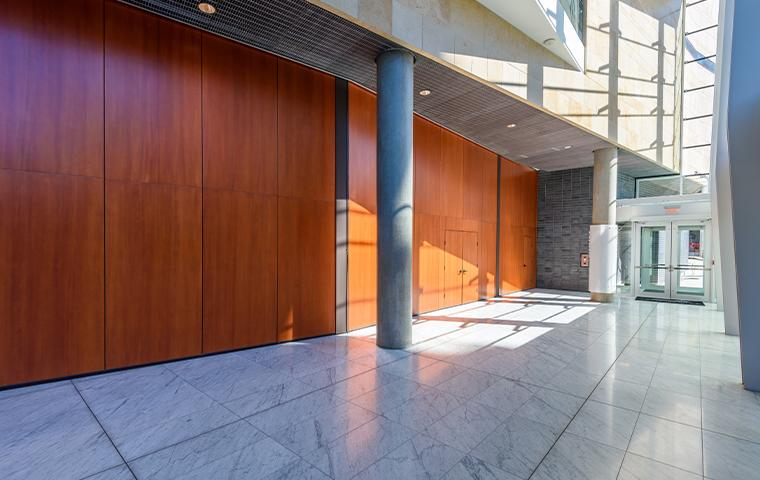 interior of a commercial building