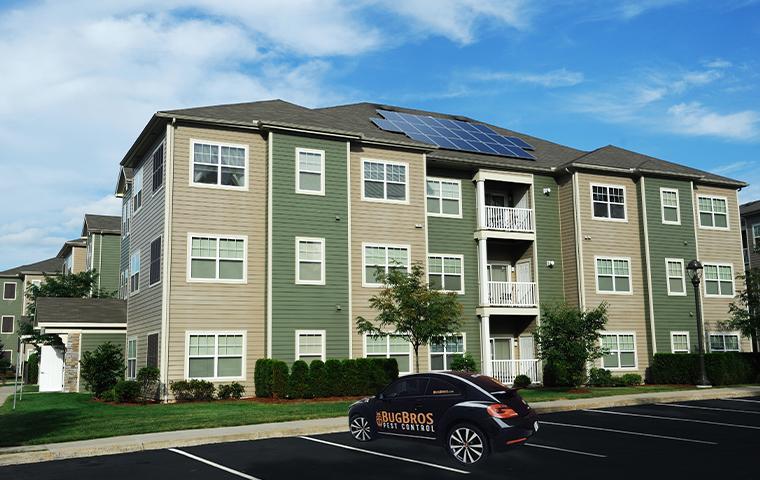 exterior of multihousing unit