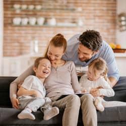 family enjoying pest-free home