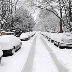 photo of an springfield street during the winter
