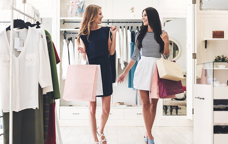 women shopping at a retail store