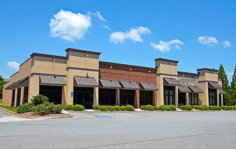 commercial buildings in a row