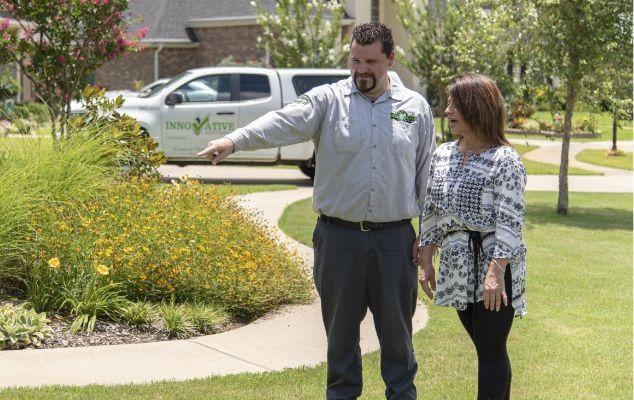 east texas pest control expert walking customer through flea and tick treatment process