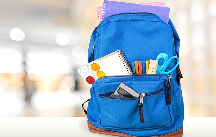 a school backpack with art supplies