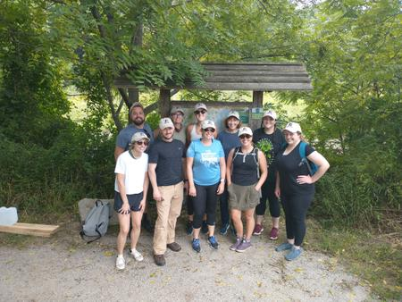 Cornerstone Hits the Trails to Volunteer!
