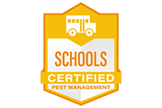 school certified pest management logo