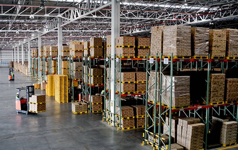 the interior of a warehouse facility in bluewater bay