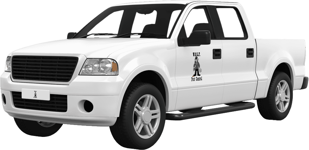a wolf pest control service vehicle in baton rouge louisiana