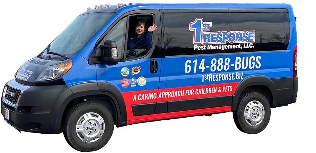 a first response pest management service van