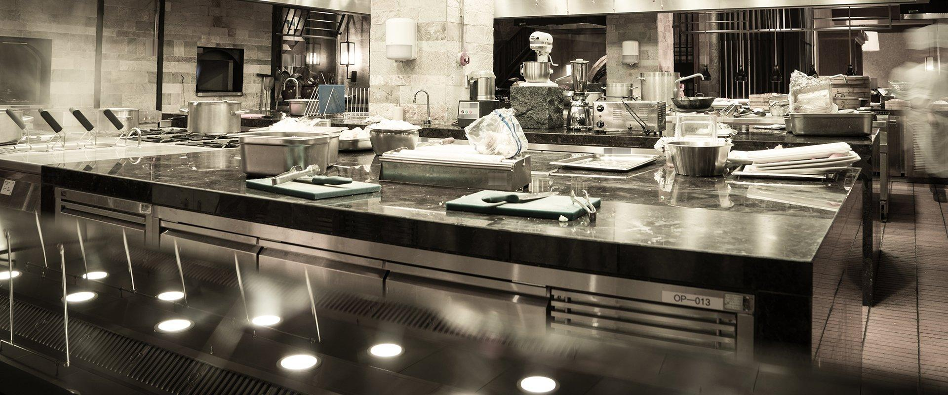 interior of a commercial kitchen