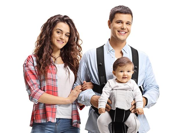 young parents with a happy baby