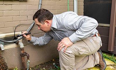 technician treating home