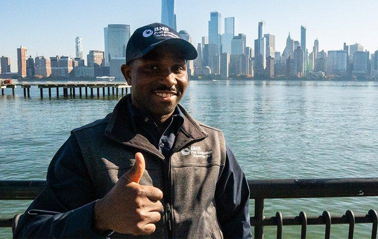 bhb tech in front of new york city skyline
