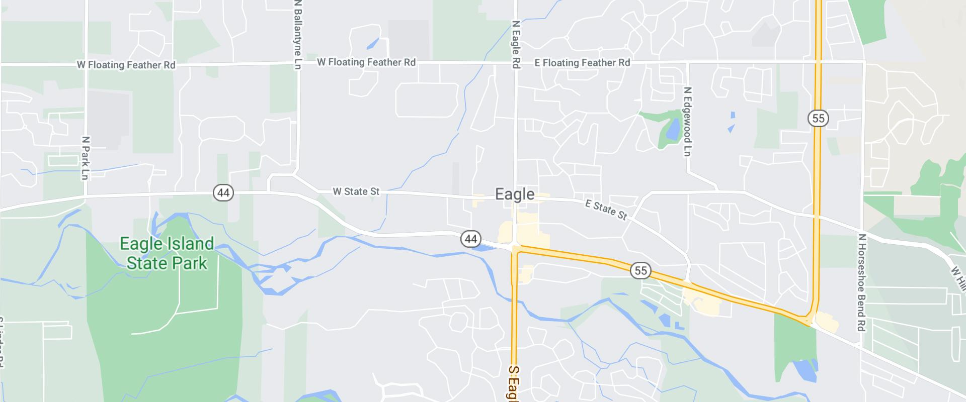 map of eagle idaho