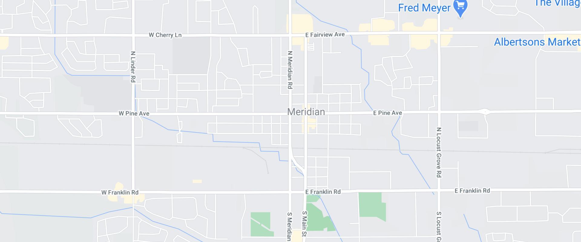 map of meridian idaho