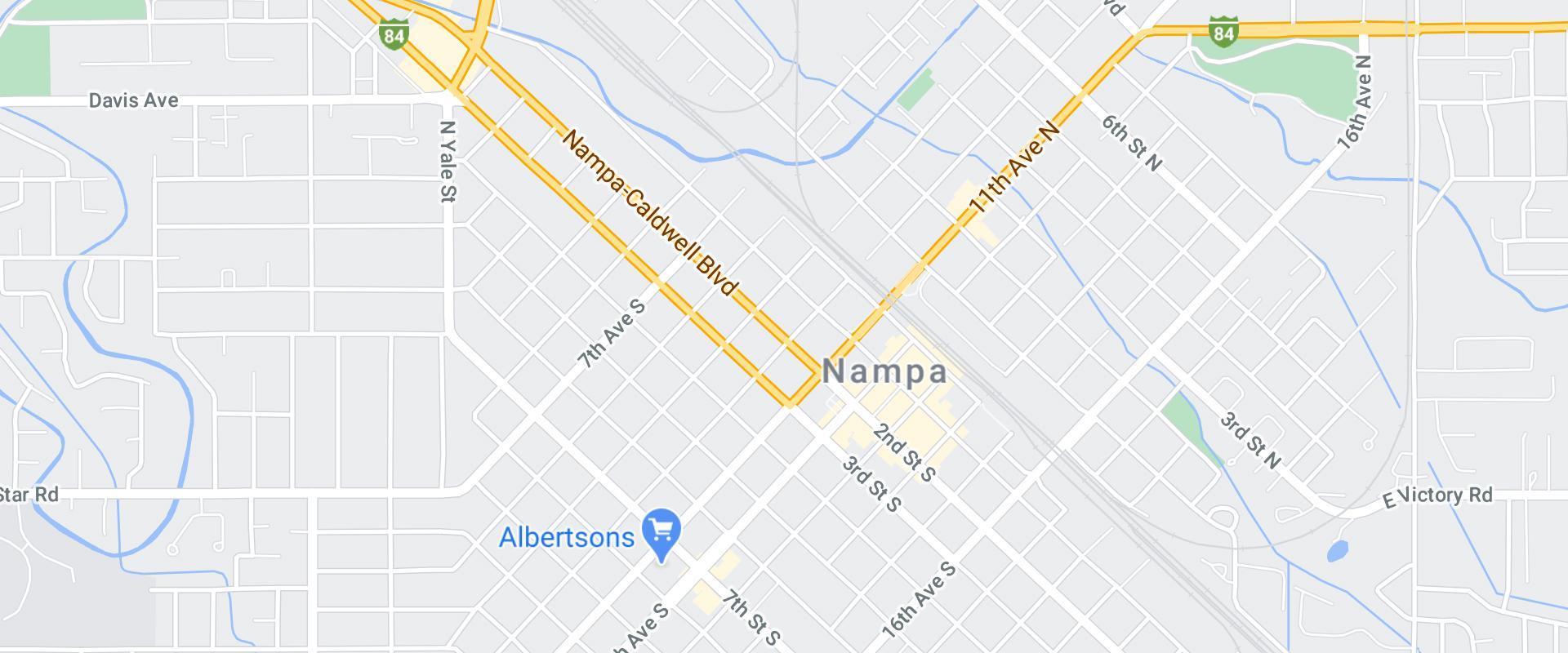 map of nampa idaho