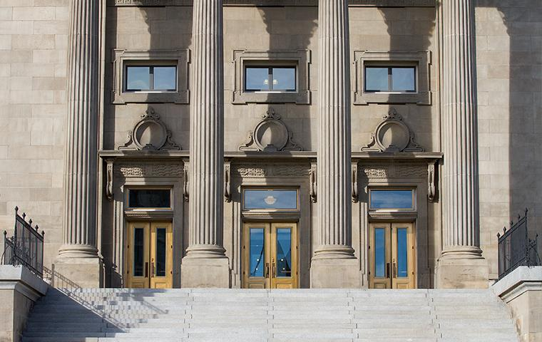 exterior shot of government building