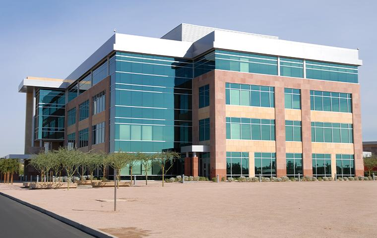 exterior of office building