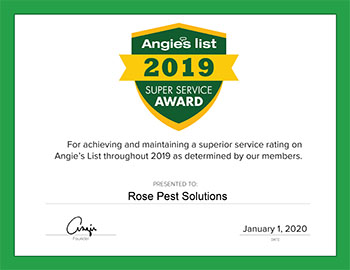 2019 angies list super service award rose pest solutions