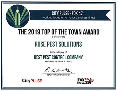 Best pest control company lansing michigan fox 47 certificate