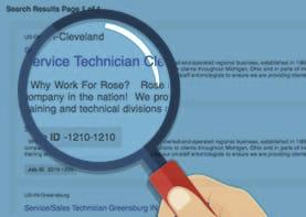 magnifying glass searching rose open jobs
