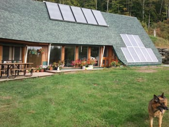 Maine Solar hot water and greenhouse