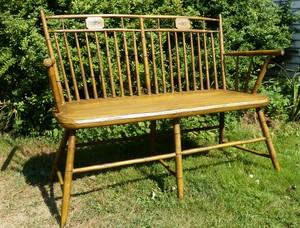 Bird cage Windsor bench