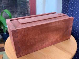 Candle box with sliding top