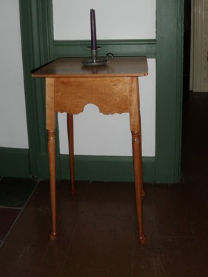 Cherry side table.