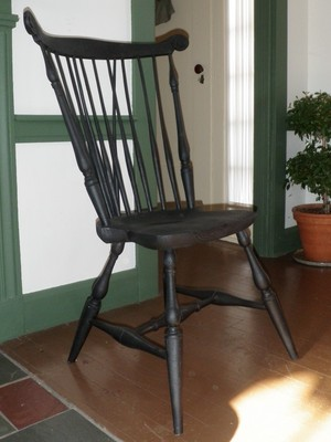 Braced fan back side chair