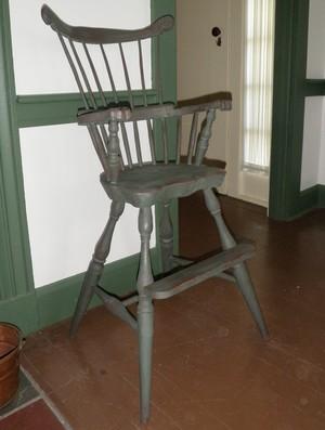 Fan back high chair.