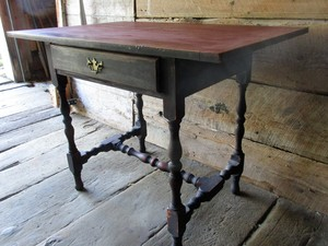 Tavern table with drawer.