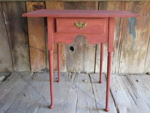 Maple side table with drawer
