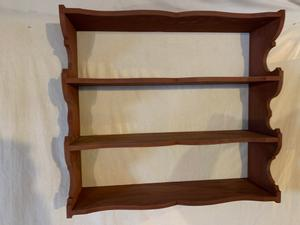 Scrolled wall shelves