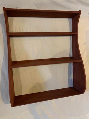 Whale wall shelves in pine