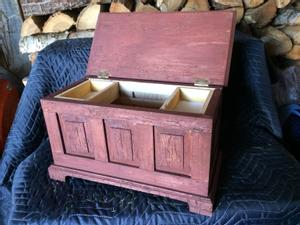 Small paneled chest