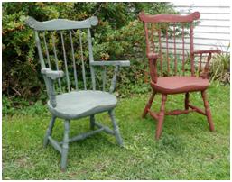 Fan back chairs