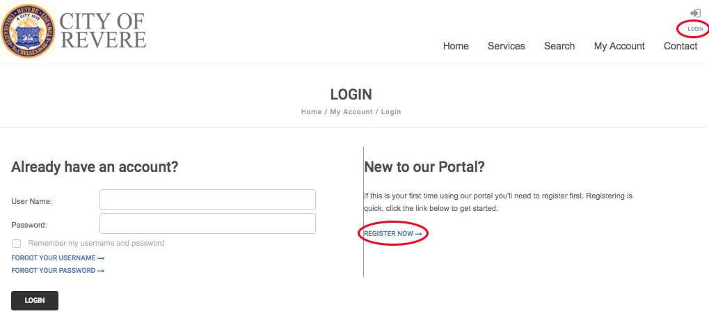 Login in / Register