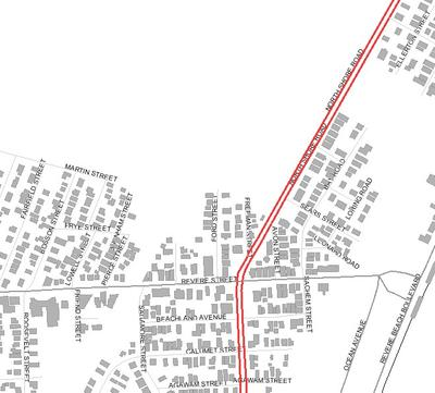 Locus Map Kellys Meadows and Lower Revere Street
