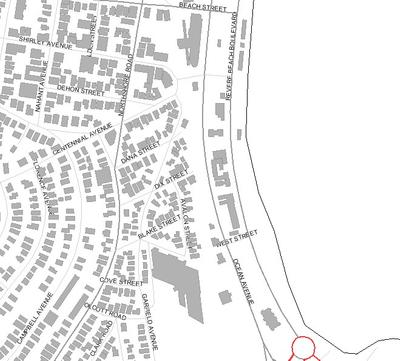 Locus Map Revere Beach South