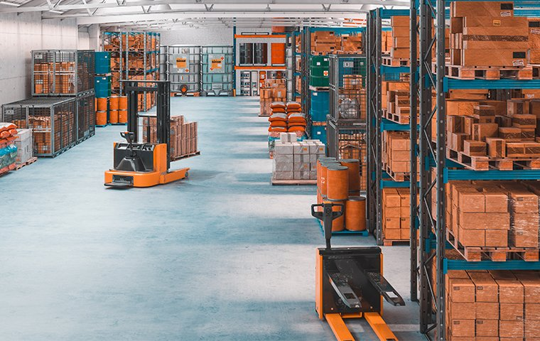 a large warehouse