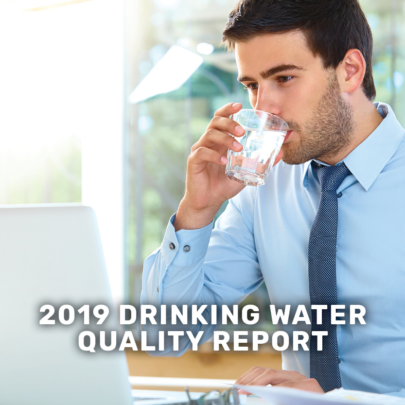 2019 drinking water quality report banner