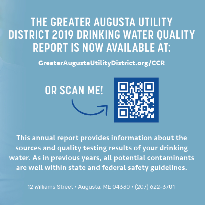 Drinking water quality report banner