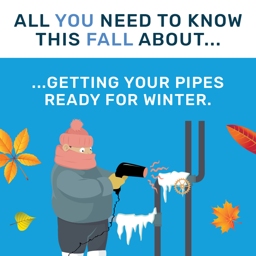Winter pipes preparation banner