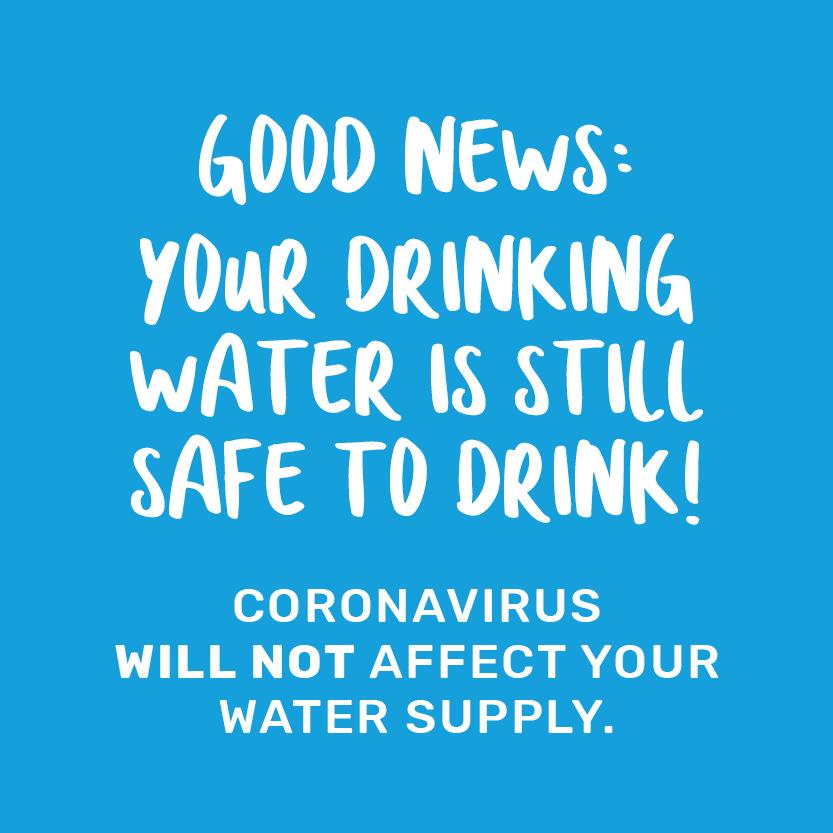 Coronavirus does not affect water supply